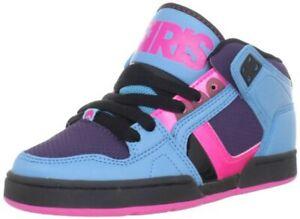 Osiris NYC83 Mid Girls Shoes Cyan/Purple/Pink Size 7