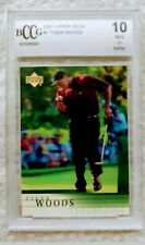 2001 UPPER DECK GOLF TIGER WOODS #1 ROOKIE CARD BCCG GRADED 10 !!!!