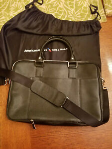 Breifcase leather Cole Haan made for American Airlines New with silk bag