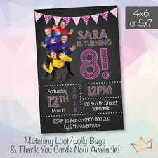Personalised The Wiggles Birthday  Invitations Party Pink Invites