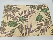 Bamboo 6 Piece Place Mats Set Floral Theme Roll Up Kitchen Dining Accessory New