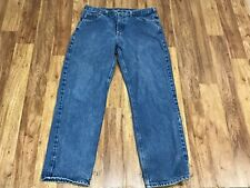 MENS 34 x 32 - Carhartt B160 Unlined Denim Rancher Work Jeans Pants