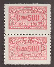 Haiti Cinderella Revenue fiscal Stamp 9-10-21 mnh no gum or hidden gum? Consular
