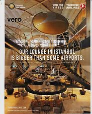 TURKISH airline 2015 magazine ad clipping print page LOUNGE IN ISTANBUL AIRPORT
