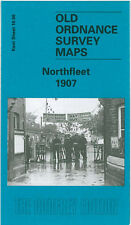 OLD ORDNANCE SURVEY MAP NORTHFLEET GRAVESEND ROSHERVILLE GARDENS 1907