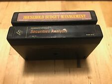 2x Texas Instruments Cartridge Household Budget Management & Securities Analysis