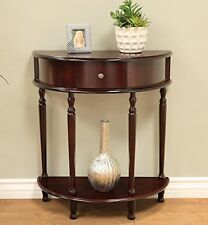 Foyer Console Table Half Moon Decorative Entrance Living Hall Small Side Drawer