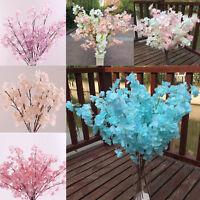 Home Decor Peach Blossom Cherry Plum Branch Silk Flowers Wedding Bouquet Popular
