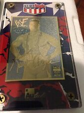 2001 Authentic Images Kurt Angle 24K Gold WWF WWE Wrestling Card #d