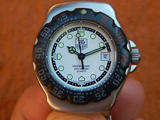 CLASSIC Ladies White/Black TAG Heuer Formula 1 Prof-200M Diver's Watch WA1418