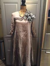 CYNTHIA ASHBY Linen /Cotton Gray Long Dress Women Size X Small