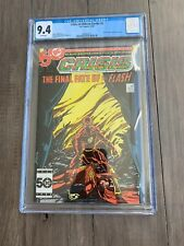 Crisis on Infinite Earths #8 CGC 9.4 WHITE PAGES Death of Flash (Barry Allen)