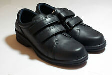 Navy Blue Leather Professional Flat Shoes High Quality Girl Guides UK Size6 #139