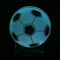 Football Soccer Ball 7 Color Change 3D LED Night Light Table Desk Lamp Xmas Gift