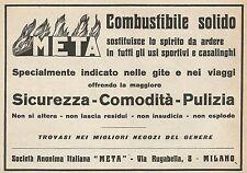 Z0222 Combustibile solido META - Pubblicità del 1928 - Advertising