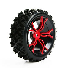 4Pcs Rubber Rally Tires &Wheel 12mm Hex For HSP HPI RC 1:10 Racing Off Road Car