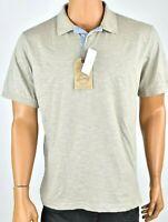 Weatherproof Mens Polo Shirt New L Vintage khaki Short Sleeves Casual Summer