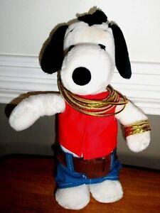 VTG United Feature Syndicate Korea 1968 Peanuts Snoopy Hip Hop Rapper Plush RARE