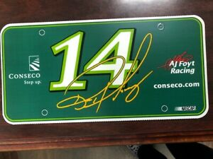 AJ Foyt Racing NASCAR Ron Hornaday #14 Conseco Race Car License Plate