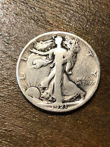 1921S Walking Liberty Half Dollar VG