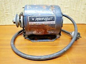 Vintage Montgomery Ward Powr Craft electric motor 1/4 horse 1725 RPM YWI-4520-B