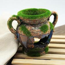 Resin Vase With Moss Aquarium Decoration Accessories for Fish Shrimp Tank Decor