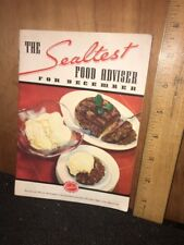 1936 THE SEALTEST Food Advisor for December Recipe Booklet.