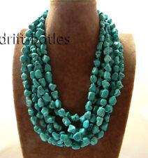 Wholesale 3pcs 48'' 10mm Baroque Freeform Turquoise Necklace