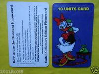 telefonkarten 1997 phone cards 10 units daisy duck paperina paperino topolino