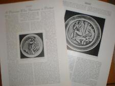 Article work US ceramic artist Henry Varnum Poor 1924