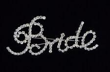"Crystal ""bride"" Pin Badge Brooch for Hens Night Kitchen Tea or Bridal Shower"