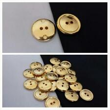 144/ 1 gross  gold raised edge 2 hole shirt button 15 mm US SHIPPER