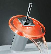 led verre robinet mitigeur cuisine salle de bains P43