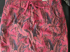 Tailor Vintage Ladies Reversible Skirt Coral Pink & FLORAL PATTERN UK SIZE 12
