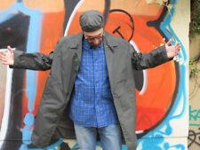 radital Nylon Regenmantel Herren Jacke 60er True VINTAGE men rain coat olivegrün