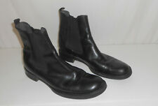 MIU MIU Black Leather Ankle boots Chukka Booties  Round Toe  38 1/2  ITALY