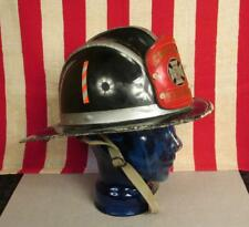 Vintage Firefighters Helmet Cairns & Bro. Firemans Leather Badge Cremard,PA.