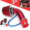 Car Cold Air Intake Filter Alumimum Induction Pipe Hose System Universal Red
