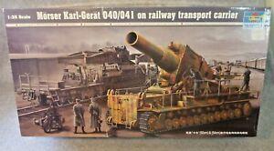 Trumpeter Morser Karl-Gerat 040/041 on railway transport carrier...New-in-Box!