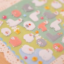 MC 3D Cartoon Sheep Cute Puffy Animals Scrapbooking Stickers Decorative Best SP