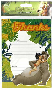 Disney THE JUNGLE BOOK THANK YOU Sheets 20 Pack includes Envelopes Party Unisex
