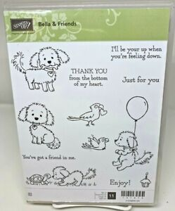 Stampin Up Bella & Friends Clear Mount Stamp Set (retired & hard to find)