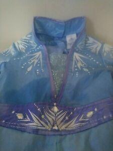 Queen Elsa Disney Frozen 2 Dress Disney Store 7/8 years deluxe, rare, book day