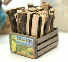 Miniature Firewood & Crate - G Scale - Model Train Accessory - 118-1005