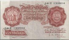 GRANDE-BRETAGNE : 10 SHILLINGS 1955-60 TTB+ - P.368c