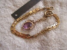 Antique Pocket Watch FOB with Amethyst Stunning