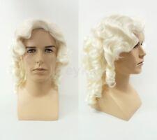 Mens Judge Colonial Costume Wig 1700s Historical Period Baroque Hamilton Cosplay