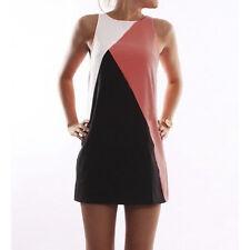 Womens Short Mini Dress Summer Beach Casual Tunic Sleeveless Tank Vest Sundress