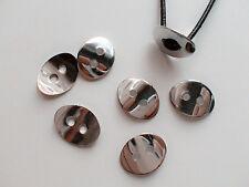 5pz bottoni  in ottone  chiusure per bracciali 14x10mm colore argento scuro