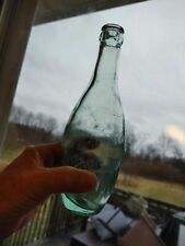 Antique Bowling Pin Soda Water Bottle - Applied Crown-Top
